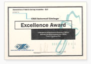 The AWCI award for Excellence 2008